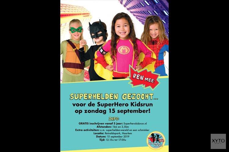 Kinderen staan te trappelen voor Superhero Kidsrun