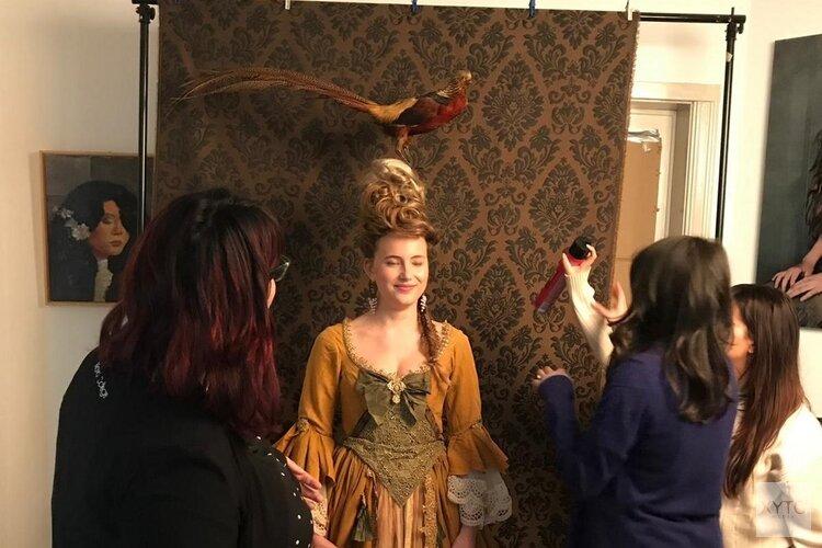 Studenten Nova College Haarverzorging stylen barokmodel