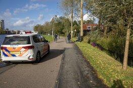 Auto in de sloot langs de Noord Schalkwijkerweg