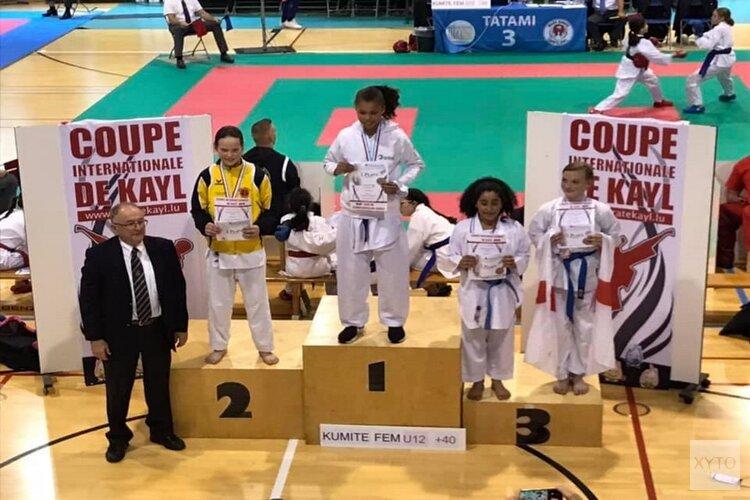 Haarlems Kenamju karate scoort tijdens Coup de Kayl in Luxemburg