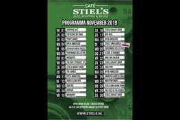 Agenda live muziekcafe Stiel's november 2019