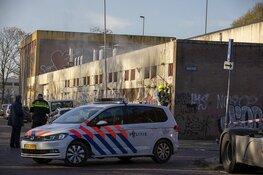 Brand in loods aan de Paul Krugerkade in Haarlem
