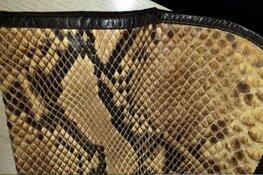 Vrouw aangehouden voor het online verkopen van kleding van slangenleer