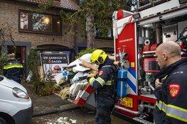 Brand bij werkzaamheden in woning