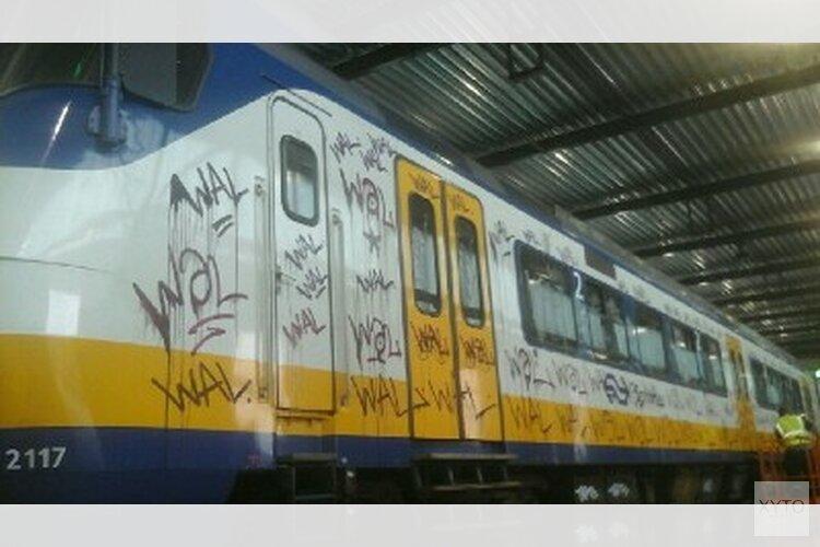 Graffiti spuiters aangehouden in Haarlem