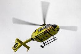 Traumahelikopter landt voor medische noodsituatie in Reinaldapark