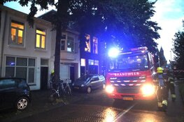 Brand door blikseminslag in Haarlem