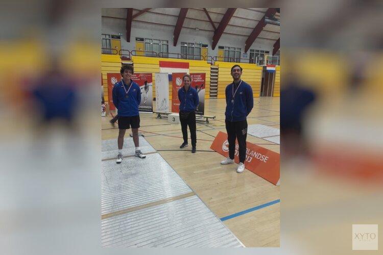 Zilver en brons voor HollandSchermen op NK schermen heren senioren in Amsterdam