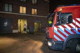 Brand in trappenhuis parkeergarage Haarlem