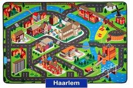 Een speelkleed voor de echte Haarlemmer. Haal jouw prachtige stad Haarlem naar je woonkamer of tuin